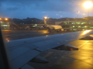 Early morning plane to Welly