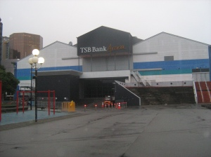 TSB Arena, the morning after