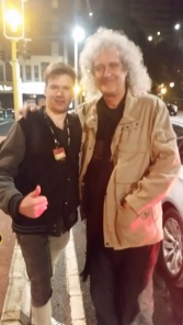 Brian May meeting New Zealand fan