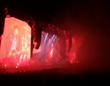 Rolling Stones Auckland lights
