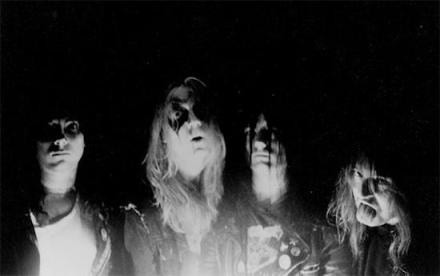 An early Mayhem band photo, Per Ohlin in the corpse paint