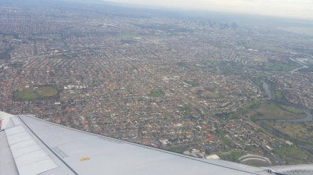 melbourne from plane