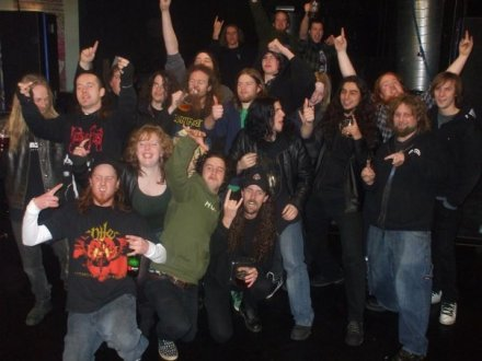 After tour photo - Osmium, Sinate, Incarnate, Flesh Gates & Menaesa