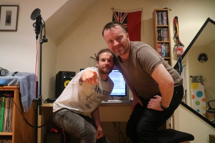 Hamish Gavin and Richard Baldwin Stakker recording Separations
